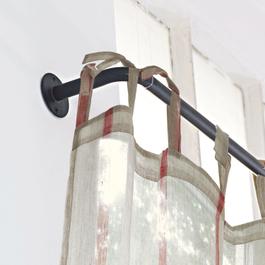 Tringle à rideaux Omara blanc