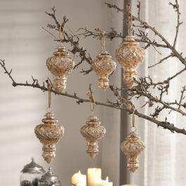 Lot de 6 décorations de Noël Mardilly