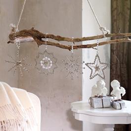 Lot de 4 décorations de Noël Pierette