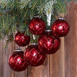 Lot de 6 décorations de Noël Roubi