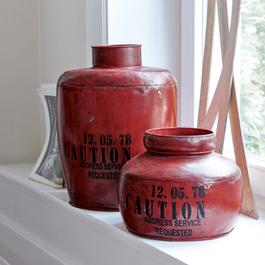Lot de 2 boîtes Nelvana rouge vieilli