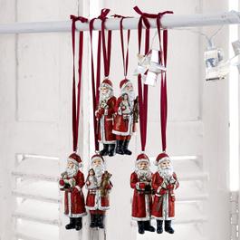 Lot de 6 Pères Noël Corvin