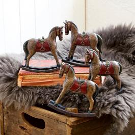 Lot de 4 chevaux décoratifs Cory