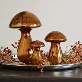 Lot de 3 décorations champignon Mushrooms