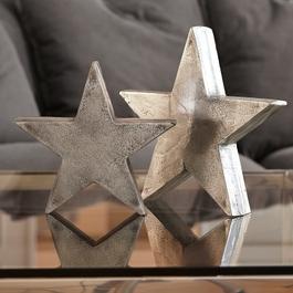Lot de 2 décorations en forme d'étoile Big Star