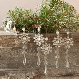 Lot de 6 décorations à suspendre Fleurette