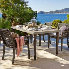 Table Hatchfield gris/marron