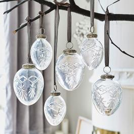 Lot de 6 décorations de Noël Roncey