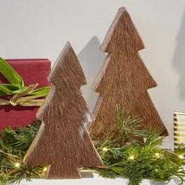 Lot de 2 décorations arbres Rosnay