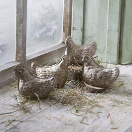 Lot de 4 poules décoratives Henrietta