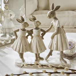 Famille de lapins Danseuses
