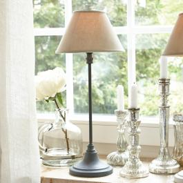 Lampe à poser Swindon gris/beige