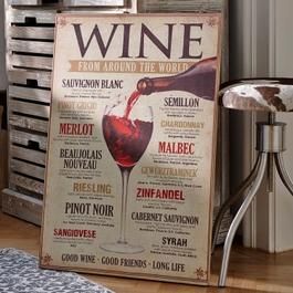 Panneau décoratif Winecard