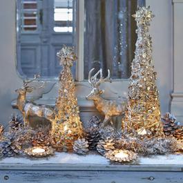 Lot de 2 sapins décoratifs Moroni