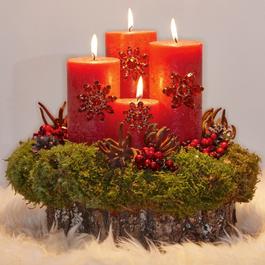 Lot de 4 pin's décoratifs Féron rouge