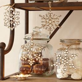 Lot de 4 décorations de Noël Gaillon