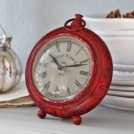 Horloge Hailey rouge vieilli