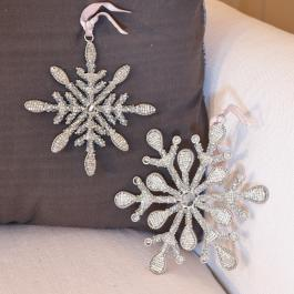 Lot de 2 décorations de Noël Fleurey
