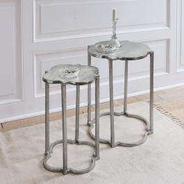 Lot de 2 tables d'appoint Médonville