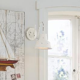 Lampe murale Sidney blanc vieilli