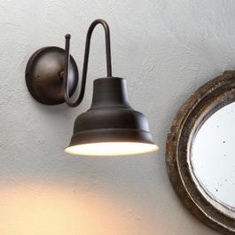 Lampe murale Sidney marron/blanc