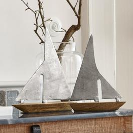 Lot de 2 bateaux décoratifs St. John