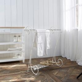 Porte-serviette Tamarin blanc vieilli