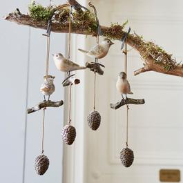 Lot de 4 oiseaux Vianne