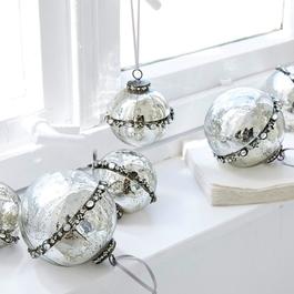 Lot de 6 décorations de Noël Cloé