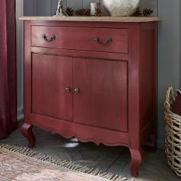 Commode Blackwood rouge vieilli