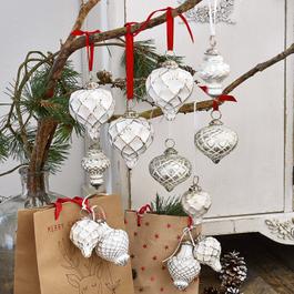 Lot de 6 décorations de Noël Appilly