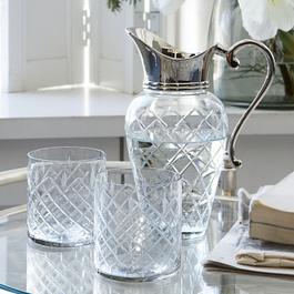 Carafe avec verres Roseline