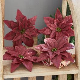 Lot de 4 fleurs décoratives Junis