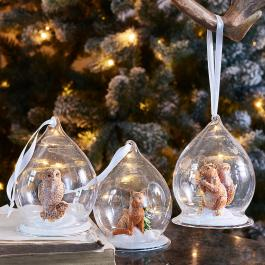 Lot de 3 décorations de Noël Hazelwood