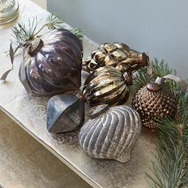 Lot de 6 décorations de Noël Alva