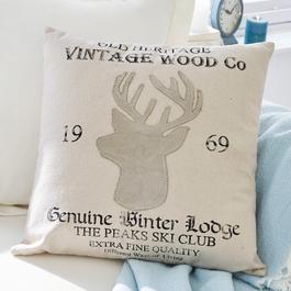 Coussin Vintage Wood
