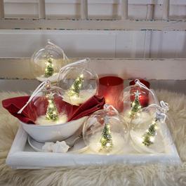 Lot de 6 décorations de Noël Ollie