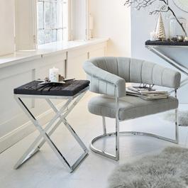 Table d'appoint Willis couleur argent/noir