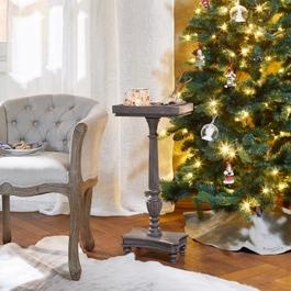 Table d'appoint Caren marron-gris