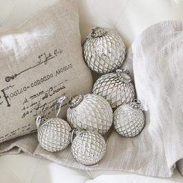 Lot de 6 décorations de Noël Maélys