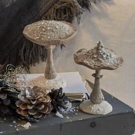 Lot de deux décorations en forme de champignon Marsha