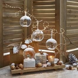 Lot de 4 décorations de Noël Animals