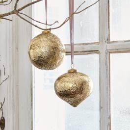 Lot de 2 décorations de Noël Goldie