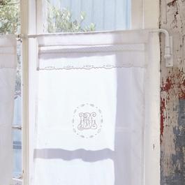 Tringle à rideaux Epping blanc vieilli