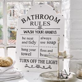 Plaque décorative Bathroom