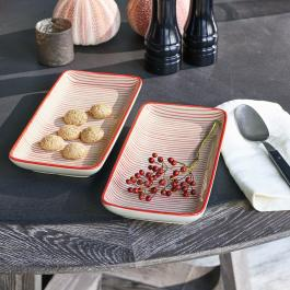 Lot de 2 assiettes Persimmon