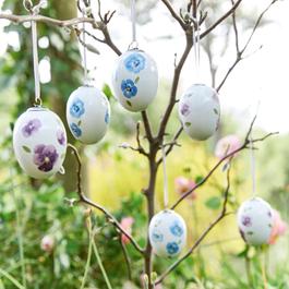Lot de 6 œufs de Pâques Elle