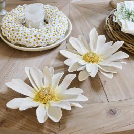Lot de 2 fleurs déco Humbeline