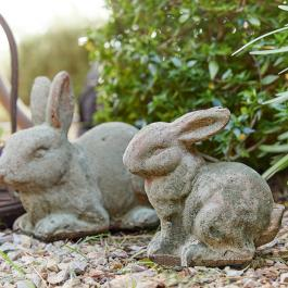 Lot de 2 lapins Dulipa