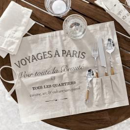 Lot de 2 sets de table Voyage